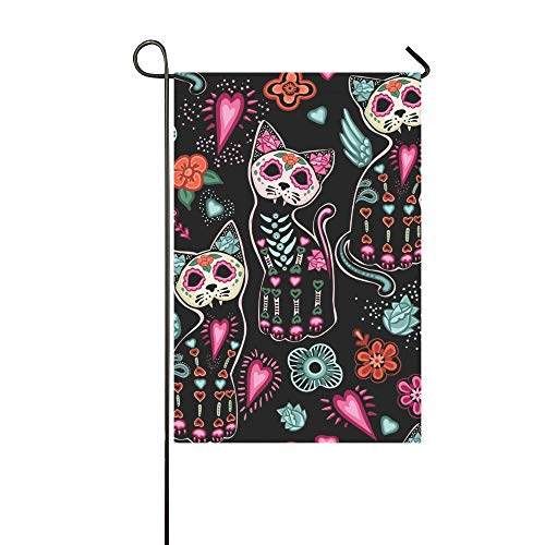WBSNDB Home Decorative Outdoor Double Sided Day Dead Halloween Garden Flag,House Yard Flag,Garden Yard Decorations,Seasonal Welcome Outdoor Flag 12 X 18 Inch Spring Summer Gift]()