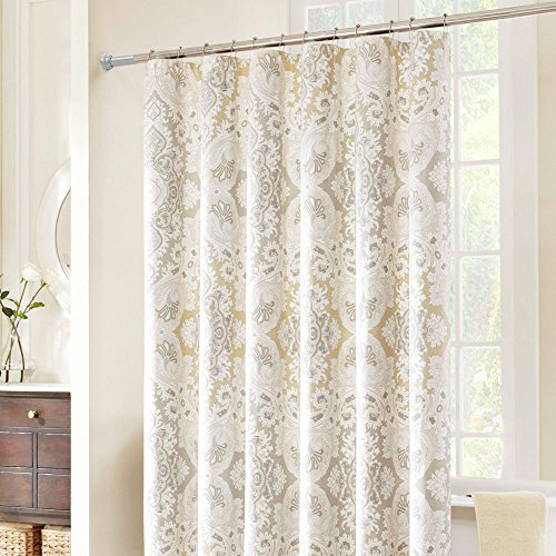 BEOKREU Tension Rod Shower Curtain Rod Tension Curtain Rod C