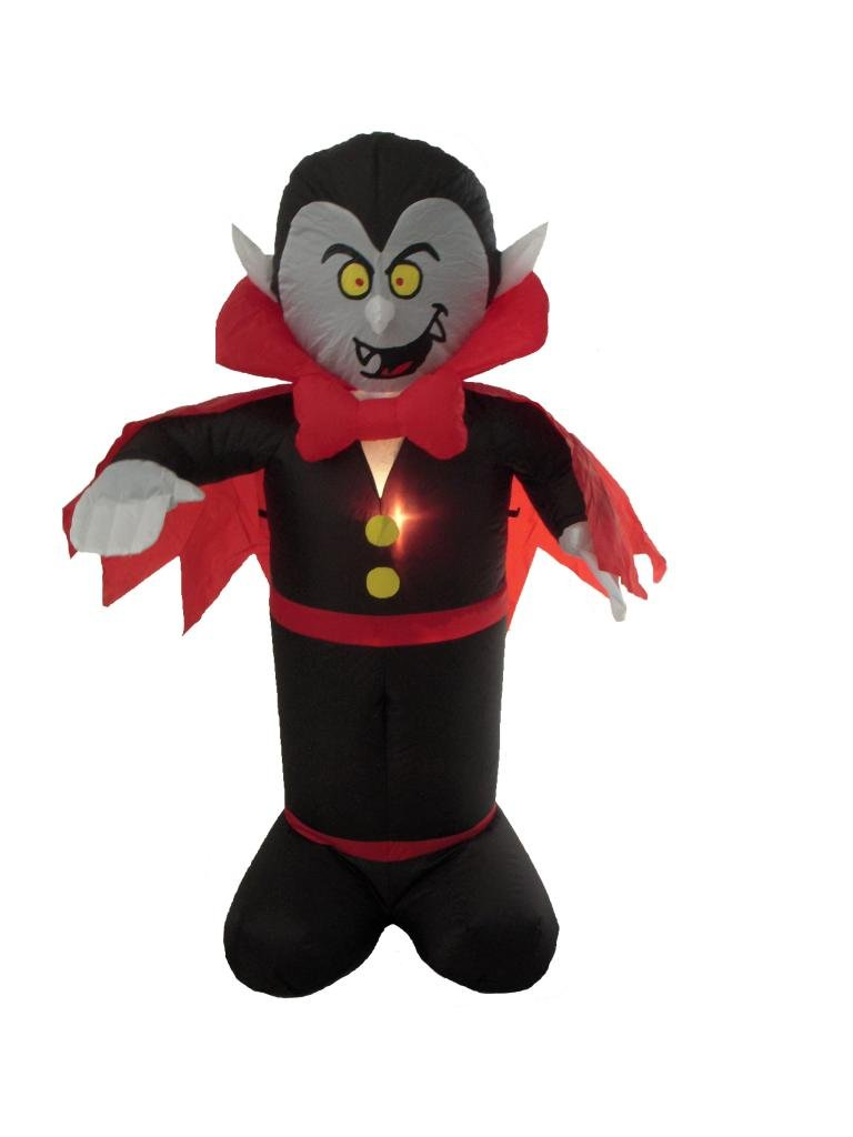 4 Foot Halloween Inflatable Dracula Vampire LED Lights Decor Outdoor Indoor Holiday Decorations, Blow up Lighted Yard Decor, Lawn Inflatables Home Family Outside