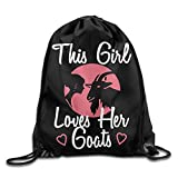 This Girl Loves Her Boer Goat Drawstring Backpack Bag Beam Mouth Sports Sackpack Shoulder Bags For Men & Women