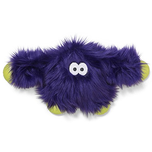 - West Paw Rowdies with HardyTex and Zogoflex, Durable Plush Dog Toy for Medium to Large Dogs, Jefferson, Purple Fur