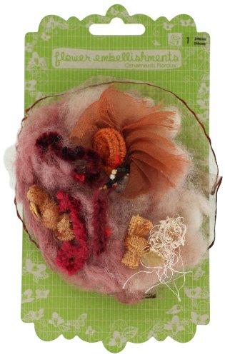 (Prima 531690 La Fleur Boheme Flower Embellishment, Persimmon)