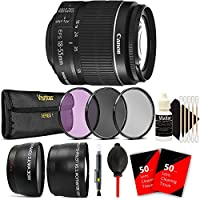 Canon EF-S 18-55mm f/3.5-5.6 IS II Lens with 58mm UV CPL ND Ultimate Accessory Kit for Canon EOS 550D 500D 450D 400D