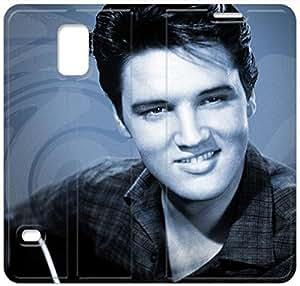 Elegant Printing Elvis Presley-16 iPhone Samsung Galaxy S5 Leather Flip Case
