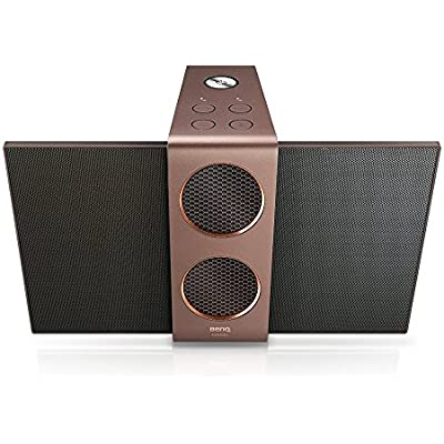 BenQ treVolo Wireless Bluetooth Portable Electrostatic Speaker  Dual woofers Dual Amplifiers  Precision-Tuned  Bluetooth   4 1 aptX   Line-out  integrated USB DAC  Duo mode  hrs playing time