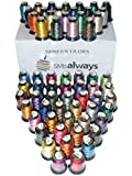 Polyester Embroidery Machine Thread Set (63 Spools, 500m Each) by SMB Always