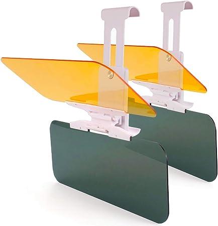Monojoy 2 X Verlängerung Für Auto Sonnenblende Auto Blendschutz Hd Visier Tag Und Nachtsichtschutz Anti Uv Blendschutz Blendschutz Auto Frontscheibe Auto