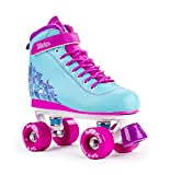 SFR Vision II Aqua Blue/Pink Limited Edition Kids Quad Roller Skates (UK 6 / EU 39.5)