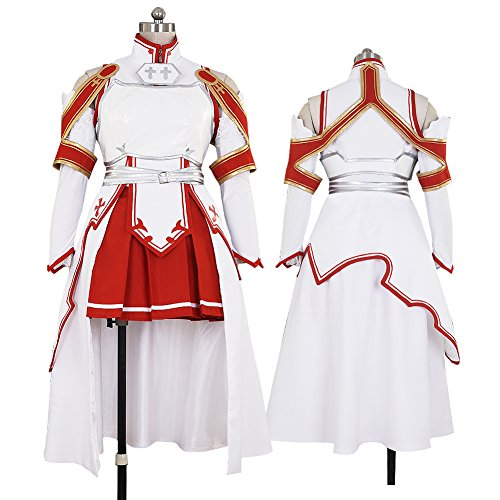 CG Costume Women's Sword Art Online Asuna Dress Cosplay Costume (Halloween Costumes Low Prices)
