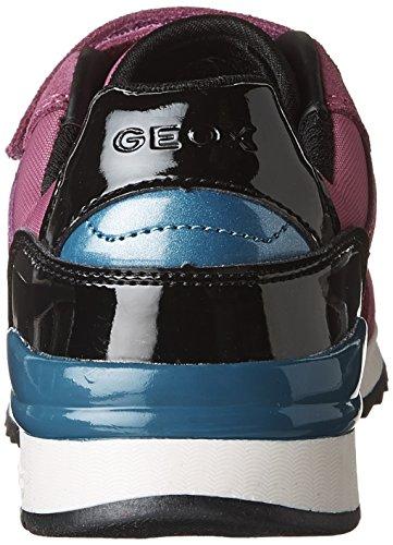 Geox J Maisie Girl a, Zapatillas Para Niñas fucsia