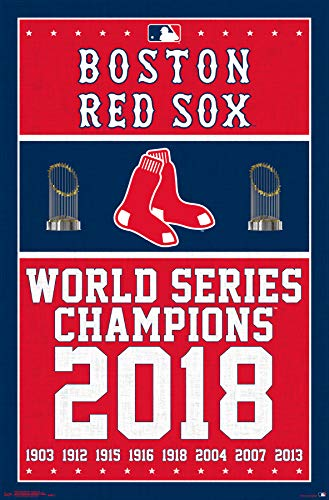 (Trends International Boston Red Sox - Champions 18 Wall Poster 22.375
