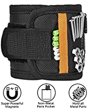 Magnetic Wristband, Gifts for Men, Magnetic Wristband with 10 Strong Magnets for Holding Tools, Nails, Drill Bits, Magnetic Tool Wristband, Gadgets for Men, DIY Handyman, Father/Dad, Husband, Women