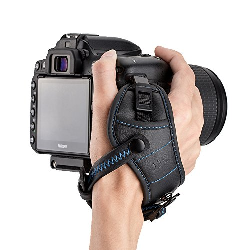 - JJC Camera Hand Grip Strap DSLR Wrist Strap for Canon 7D 6D 5D 5Ds R 1Dx T7 T6 T5 T3 T7i T6s T6i T5i SL2 SL1 80D 77D Nikon D5 D4s D4 D850 D810 D3400 D7500 D7200 D5600 D5500,etc