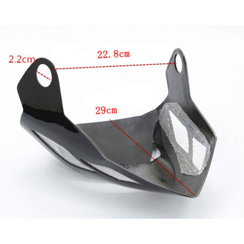 MagiDeal Headlight Fairing Cover Wind Screen Windshield for Honda Grom MSX125 2014 2015 Red