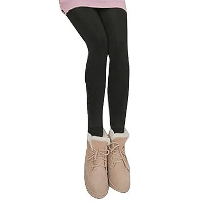 Leggings Pantalones Elasticos Invierno para Mujer, Leggins Polainas Mallas Grueso Cálido Forrado - Negro: Deportes y aire libre
