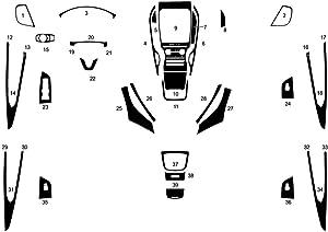 Rvinyl Rdash Dash Kit Decal Trim for Lincoln Nautilus 2019-2020 - Carbon Fiber 3D (Orange)