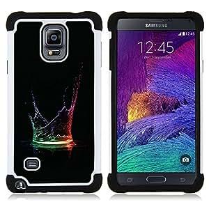 - Water Color Drop/ H??brido 3in1 Deluxe Impreso duro Soft Alto Impacto caja de la armadura Defender - SHIMIN CAO - For Samsung Galaxy Note 4 SM-N910 N910