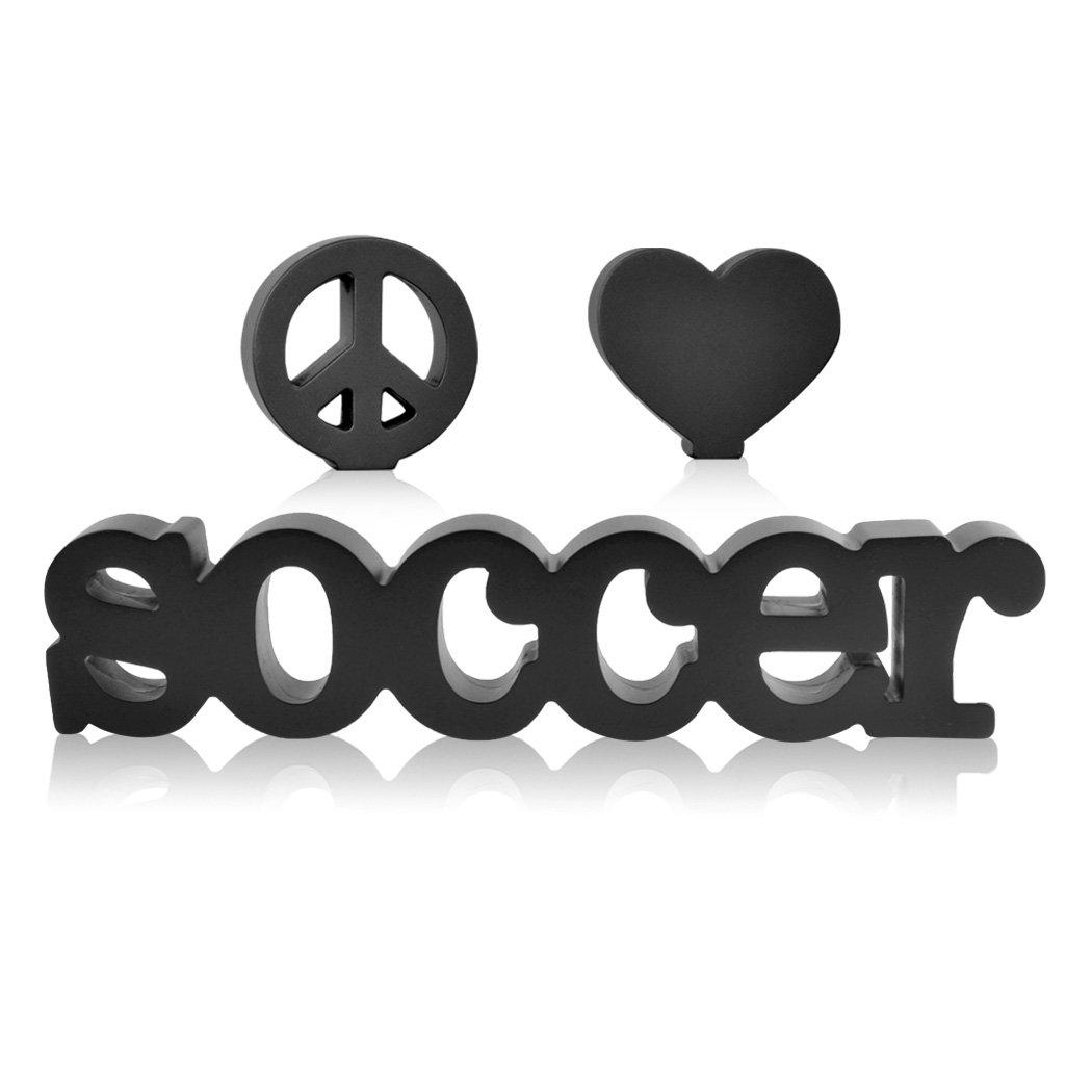 Peace Love Soccer Wood Words | Wood Words by ChalkTalk SPORTS | Room, Shelf and Desk Décor