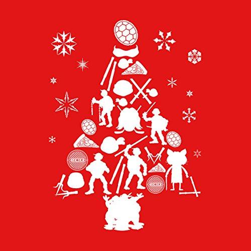 Red Jacket Silhouette Mutant Turtles white Tree Teenage Christmas Varsity Ninja Men's W8z1gqA