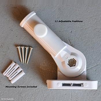 this item flag bracket adjustable aluminum white flagpole holder - Flag Pole Holder
