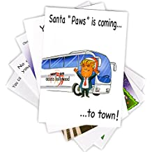"""Set of 5 """"DONALD TRUMP"""" Funny Christmas Cards by LOCKER ROOM TALK CARDS with Envelopes 5""""x7"""""""