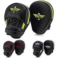 Elite Sports NEW ITEM Essential Curved Boxing, MMA, Kickboxing, Muay Thai, Sparring Punching Mitts