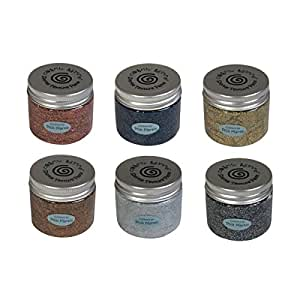 Cosmic Shimmer Sparkle Texture Paste Phill Martin Precious Metals Set 6 x 50ml Pots