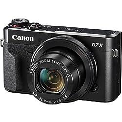 Canon PowerShot G7 X Mark II Wi-Fi Digital Camera with 32GB Card + Case + Battery + Flex Tripod + Kit