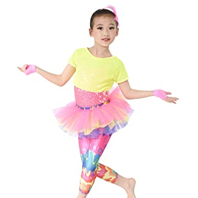 amazon com midee jazz costume hip hop dance outfits 3 pieces
