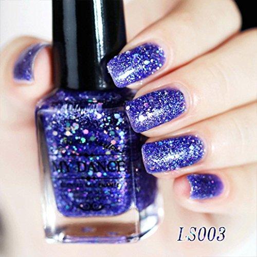 TRENDINAO New Gel Nail Polish Super Bling 6ml Diamond Glitter Galaxy Manicure Gel Nail Polish Sequins Nail Art