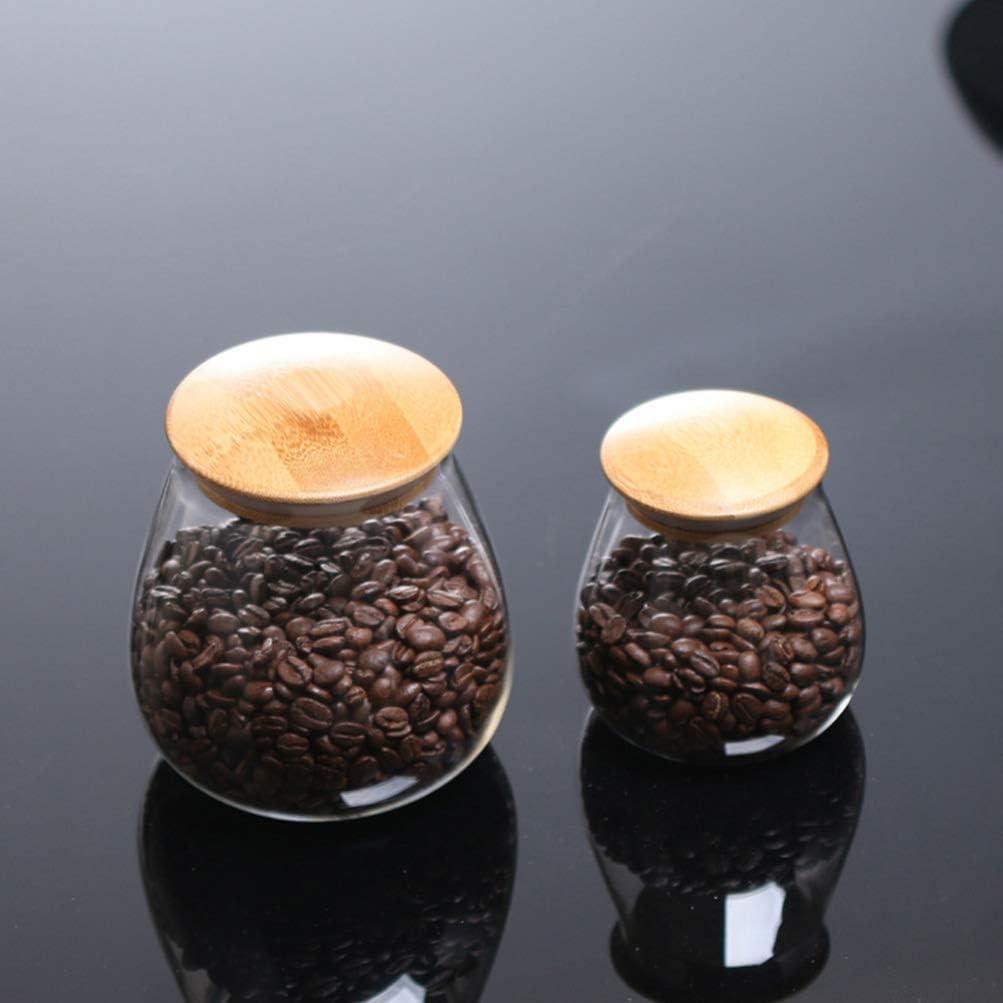 UPKOCH pot de conservation des aliments en verre avec couvercle en bambou scell/é contenant transparent contenant pour th/é th/é /épices 800 ml
