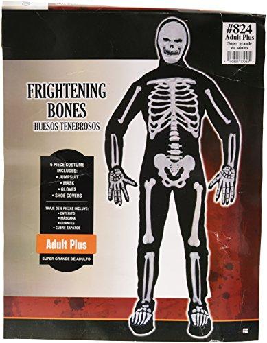 Frightening Bones | Creepy Halloween Costume | Plus XXL -