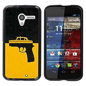 LECELL -- Funda protectora / Cubierta / Piel For Motorola Moto X 1 1st GEN I XT1058 XT1053 XT1052 XT1056 XT1060 XT1055 -- Taxi Gun Taxi Driver --