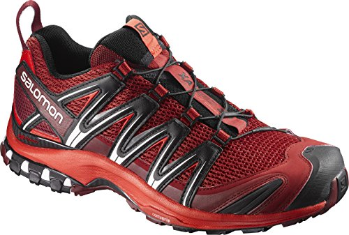3D Trail Running Shoe (9.5 D(M) US, Red Dalhia/Fiery Red/Black) (Salomon Xa Pro Shoe)