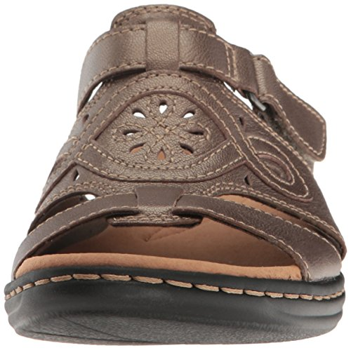 Clarks Kvinders Leisa Higley Slide Sandal Tin Metallisk Læder mGoUrlmX