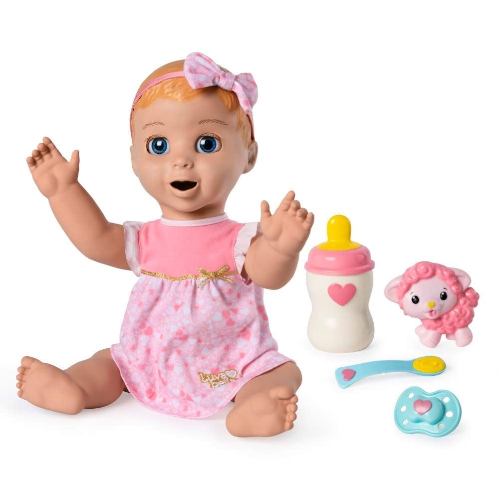 1db80331970 Amazon.com: Luvabella Blonde Hair Interactive Baby Doll with Expressions &  Movement (Ages 3+): Toys & Games