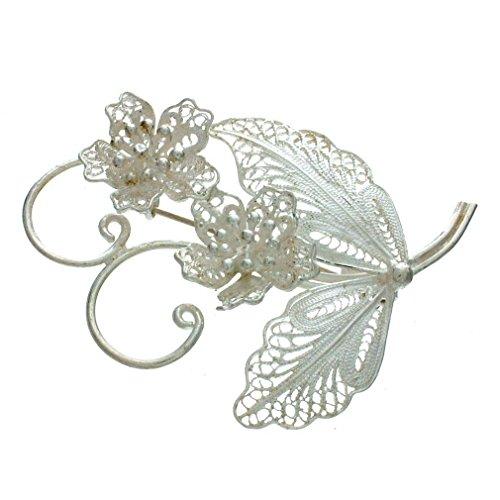 NOVICA .925 Sterling Silver Brooch Pin, 1.4