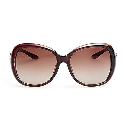 KAI LE Gafas de sol polarizadas Marea para mujeres Gafas de sol redondas Gafas de sol