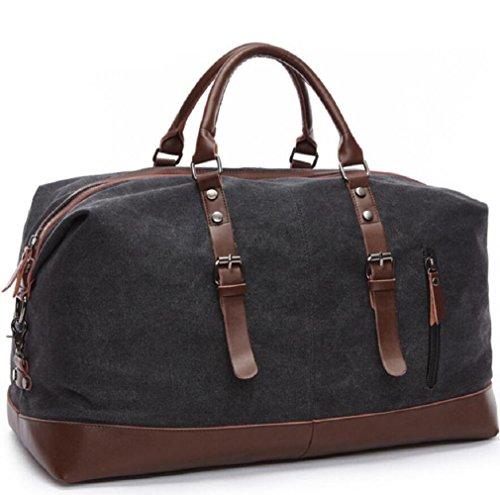 ZC&J Al aire libre bolso de 20-35L bolso de la lona del bolso de la botella del cilindro de la lona de la capacidad, conveniente para los hombres y las mujeres que recorren el bolso de hombro de la ap E