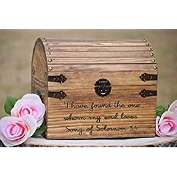 I Have Found the One Whom My Soul Loves Song of Solomon 3:4 - Wedding Card Box - Love Box -Love Letter Chest-Rustic Wedding-Wishing Well Box