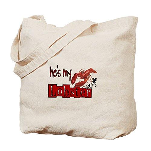 Cafepress–My lobster–Borsa di tela naturale, tessuto in iuta