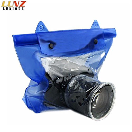 Luniquz DSLR SLR Camera Waterproof Bag Housing Case Pouch Cover for Canon Nikon -Blue by Luniquz