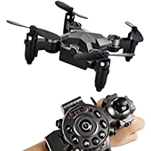 Official USA Distributor Watch Drone w/ FPV Camera & Foldaway Arms Easy to Control with Wearable G-Sensor Remote Control Emulational Cruise Flight Altitude Hold Spring Break Deal & Sale