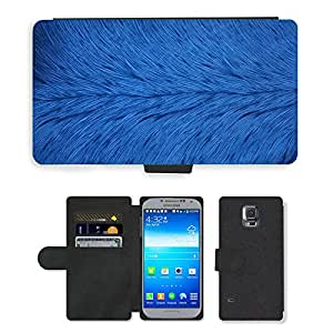 PU Cuir Flip Etui Portefeuille Coque Case Cover véritable Leather Housse Couvrir Couverture Fermeture Magnetique Silicone Support Carte Slots Protection Shell // M00156386 Fondo azul oscuro Azul oscuro // Samsung Galaxy S5 S V SV i9600 (Not Fits S5 ACTIVE)