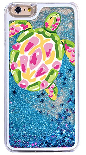 iPhone 8 / 7 , Dynamic Hard Case Glitter Bumper for Apple Clear Cover - Colourful Turtle ()