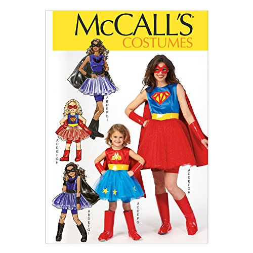 [McCall Pattern Company M7001 Misses'/Children's/Girls' Costumes, Size MIS] (Les Mis Halloween Costumes)