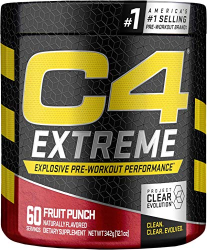 Cellucor C4 Extreme Pre Workout Powder Energy Drink for Men & Women w/Creatine, Caffeine, Nitric Oxide Booster, Citrulline & Beta Alanine, Fruit Punch, 60 Servings (Best C4 Pre Workout)