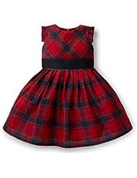 girls holiday plaid taffeta pleated dress