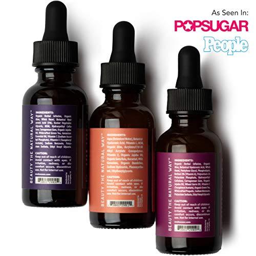 Eve Hansen Anti-Aging Serum Set   Vitamin C Serum, Hyaluronic Acid Serum, Retinol Serum   Brightening Serum, Anti Wrinkle Serum, Dark Spot Corrector for Face, Acne Scars, Pore Minimizer   3x1 oz.
