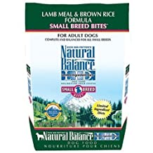 Dick Van Patten's Natural Balance Limited Ingredient Diets Lamb Meal and Brown Rice Formula Small Breed Bites Dry Dog Food, 12-Pound Bag